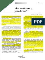 SOCIEDADES MODERNAS Y POSMODERNAS PATRICIA ORTEGA VALDES