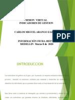 evidencia 11 sesion virtual indicadores de gestion