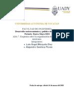 ADA 7. Esquema sobre la organización del gobierno mexicano.