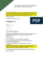 examen 6 Direccion de Proyecto I  diplomado