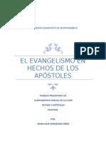 el evangelismo en hechos de los apóstoles