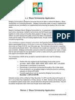 Scholarship Application 2019