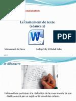 Unité II-S2-2 Le traitement de texte.pptx