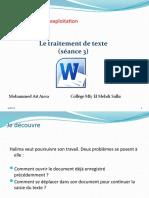 Unité II-S2-3 Le traitement de texte- déplacement et correction.pptx