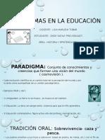 PARADIGMAS EN LA EDUCACIÓN.