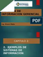Capitulo 2. EJEMPLOS DE SISTEMAS DE INFORMACION