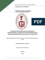Informe de Laboratorio N 1 - PREPARACIÓN DE MATERIALES PARA EL MONITOREO DE MICROORGANISMOS
