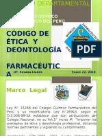 CODIGO DE ETICA Y DEONTOLOGIA FARMACEUTICA Qf Susana (1).pptx