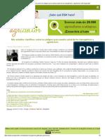 LOS PELIGROS DE LOS TRANSGENICOS Y AGROTOXICOS