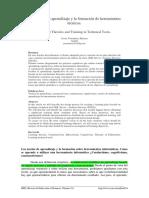 Las teorías de aprendizaje y la formación de herramientas técnicas