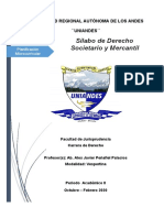 SILABO DERECHO SOCIETARIO Y MERCANTIL