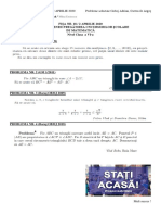 FIȘA NR. 18 (2 APRILIE 2020) simulare OJM - ONM clasa a VI-a - fara soluții
