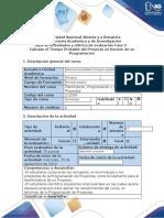 Guía de actividades y rubrica de evaluación Fase 3 - Calcular el Tiempo Probable del Proyecto.docx