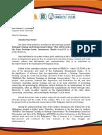 UNESCO Invitation Letter