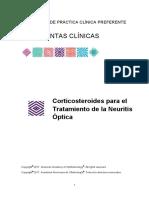Corticosteroides Para El Tratamiento de La Neuritis Optica PPP PC