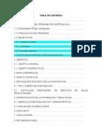 TABLA DE CONTENIDO PRIMEROS AUXILIOS