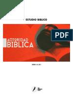 Lectura La autoridad de la Biblia