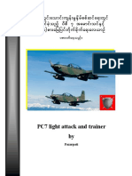 PC7 Light Attack and Trainer from Myanmar Air Force