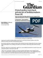 French police turn back private jet of holidaymakers from UK | World news | The Guardian