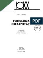 Erika Landau - Psihologia creativitatii-Editura Didactica si Pedagogica (1979)