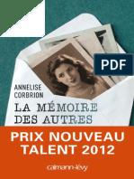 Corbrion, Annelise - La Mémoire des autres.pdf