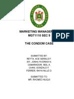 MGT1110 SEC 5 CONDOM CASE