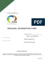Employment application form NKB