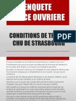 Présentation FO Enquête Sur Les Conditions de Travail 2016