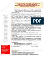 La Fédération FO Et Ses Unions Nationales Portent Plainte Contre X