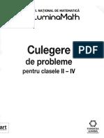 Matematica - Clasele 2-4 - Culegere de probleme - Concursul National LuminaMath