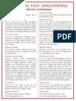 ORATIONES  FIDEI  CHRISTIANIBUS