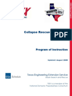 Collapse Rescue Operations - Program of Instruction-1