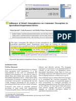 Influence of Retail Atmospherics on Consumer Perception in specialized Department stores