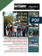 Periódico El Despertador, Lavalle, Mendoza, Argentina, edición del 5 de abril de 2020