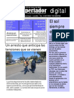 Periódico El Despertador, Lavalle, Mendoza, Argentina, edición del 29 de marzo de 2020