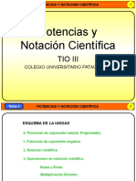 Presentación Potencias y notación científica