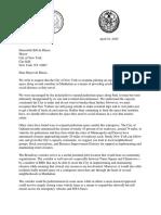 GB Letter Re Temporary Manhattan Pedestrian Improvements