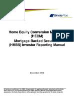 HMBS Investor Reporting Manual