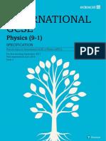 International Gcse Physics 2017 Specification
