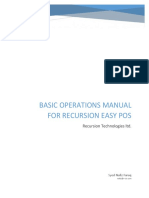 Basic Operations Manual for Recursion Easy POS