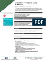 Evaluation financiere dune entreprise
