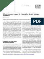article sur l'adaptation au changement climatique