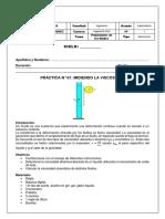 Sesión 2 - MECFLU - Propiedades de los fluidos - lab viscosidad