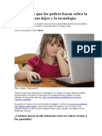 la nacion - 8 preguntas que los padres hacen sobre la relación de sus hijos y la tecnología