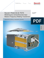 Rexroth Frequ Weld Transformer PSG6130.00PSTK