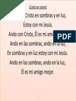 Ando Con Cristo en Sombras y en Luz