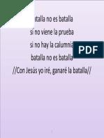 Batalla No Es Batalla Si No Viene La Prueba - Sino