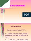 He Will Do It (Devotional)