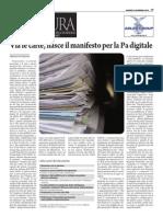 Via le carte, nasce il Manifesto per la PA Digitale
