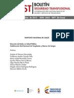 Lineamientos para el almacenamiento de la seroteca en bancos de sangre y servicios de transfusión - Septiembre 2015